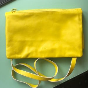 Neon yellow Kate Spade Saturday handbag/clutch